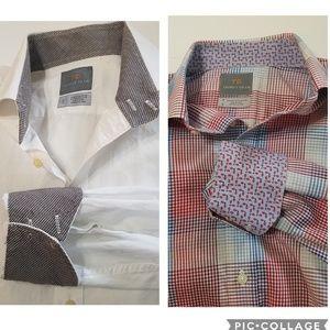 Thomas Dean Button Up Shirts Set of 2! Size Medium